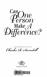 Can One Person Make a Difference