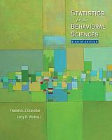 Statistics for the Behavioral Sciences PDF