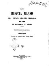 La brigata Milano nella campagna dell'Italia meridionale del 1860