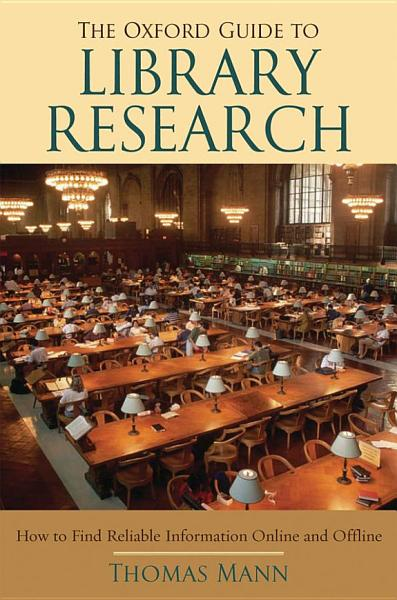Download The Oxford Guide to Library Research Book