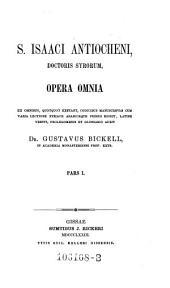Opera omnia: Volume 1
