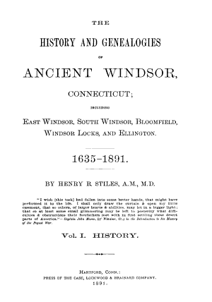 The History of Ancient Windsor