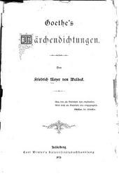 Goethe's Märchendichtungen