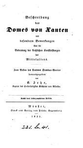 Beschreibung des Domes von Xanten