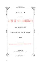 Reunion of the Society of the Army of the Cumberland: Volume 16