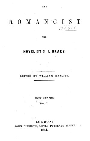 The Romancist and Novelist's Library: Fatal revenge, or, The family of Montorio