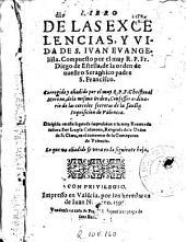 Libro de las excelencias y vida de S. Ivan Evangelista