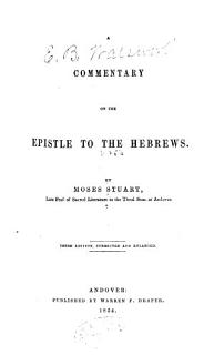 A Commentary on the Epistle to the Hebrews Book