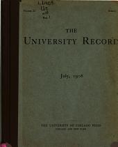 University Record: Volume 11, Issue 1