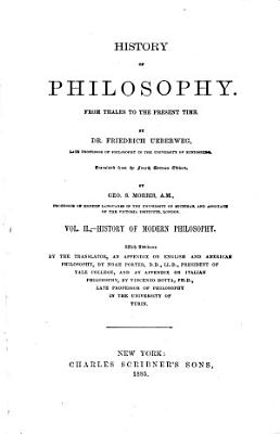 History of Philosophy  from Thales to the Present Time PDF
