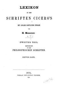 Lexikon zu den Schriften Cicero s mit Angabe s  mtlicher Stellen PDF