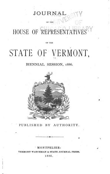 Download Journal of the House of Representatives of the State of Vermont Book