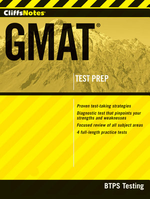 CliffsNotes GMAT with CD ROM PDF