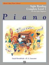 Alfred's Basic Piano Library: Sight Reading Book Complete Level 1 (1A/1B)