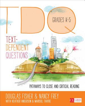 Text Dependent Questions  Grades K 5