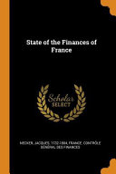 Download State of the Finances of France Book