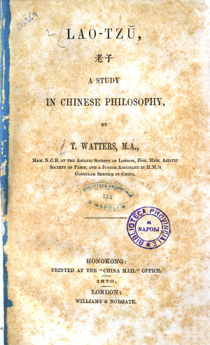 Lao   Tz   a Study in Chinese Philosophy by T  Watters  M  A