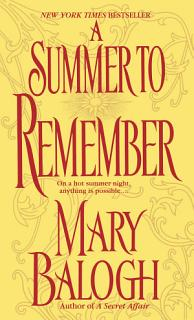 A Summer to Remember Book
