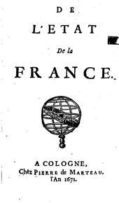 De L'Etat De la France