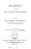 Damon  or The art of Greek iambic making   With  Key PDF