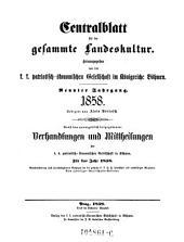 Centralblatt der Land- und Forstwirthschaft in Böhmen. Red. von Alois Borrosch: Band 1;Band 9