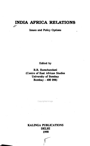 India Africa Relations: Issues and policy options