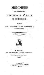 Mémoires d'agriculture, d'économie rurale et domestique: Volume1