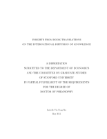 Insights from Book Translations on the International Diffusion of Knowledge PDF