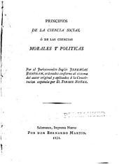 Principios de la ciencia social ó de las ciencias morales y politicas: Volumen 1
