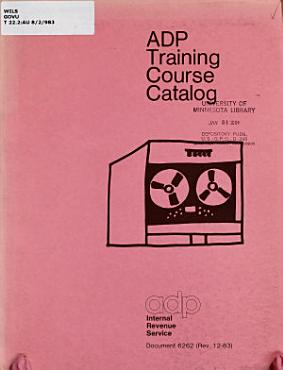ADP Training Course Catalog PDF
