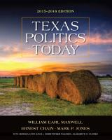 Texas Politics Today 2015 2016 Edition PDF