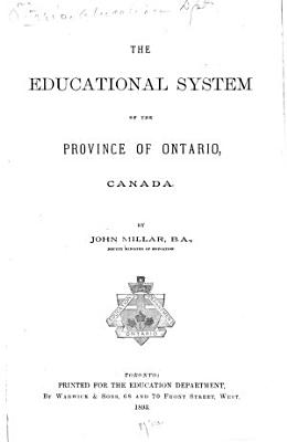 The Educational System of the Province of Ontario  Canada