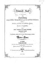 Eine Sammlung ausgewählter Kompositionen zu vier und fünf Stimmen: bestehend in deutschen geistlichen und weltlichen Liedern, Hymnen und Motetten