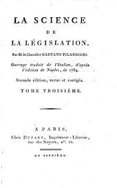 La science de la législation: Volumes3à4