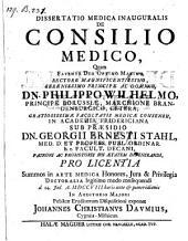 De consilio medico; resp: Johannes Christianus Daum