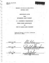 I-65-3(52)(53) and M-7257(1), Lewisburg to Warrior: Environmental Impact Statement, Volume 1