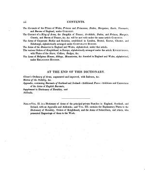 Encyclopaedia Heraldica Or Complete Dictionary of Heraldry