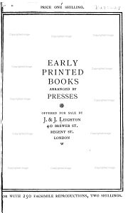 Early Printed Books Arranged by Presses PDF