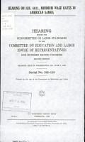 Hearing on H R  4011  Minimum Wage Rates in American Samoa PDF