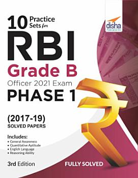 10 Practice Sets for RBI Grade B Officers Exam 2020 Phase 1   3rd Edition PDF