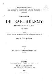 Papiers du Barthélemy: Volume5