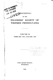 Proceedings of the Engineers' Society of Western Pennsylvania: Volume 34