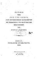 Plutarch   ber Isis und Osiris PDF