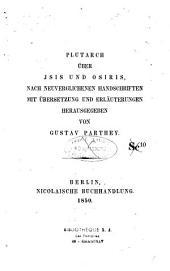 Plutarch Über Isis und Osiris,...