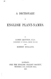 A Dictionary of English Plant-names: Part 2