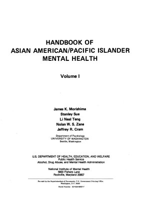 Handbook of Asian American Pacific Islander Mental Health PDF
