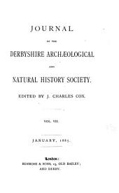 Journal of the Derbyshire Archaeological and Natural History Society: Volumes 7-9