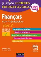 Fran  ais   Professeur des   coles   Ecrit   admissibilit     CRPE 2018 PDF