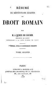 Résumé de répétitions écrites de droit romain: Volume2