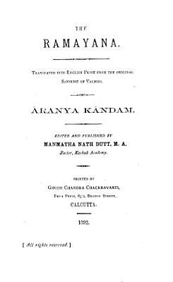 The Ramayana    ranyak  ndam  1891